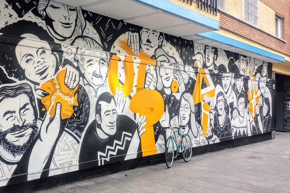 tour de graffiti por calle argumosa
