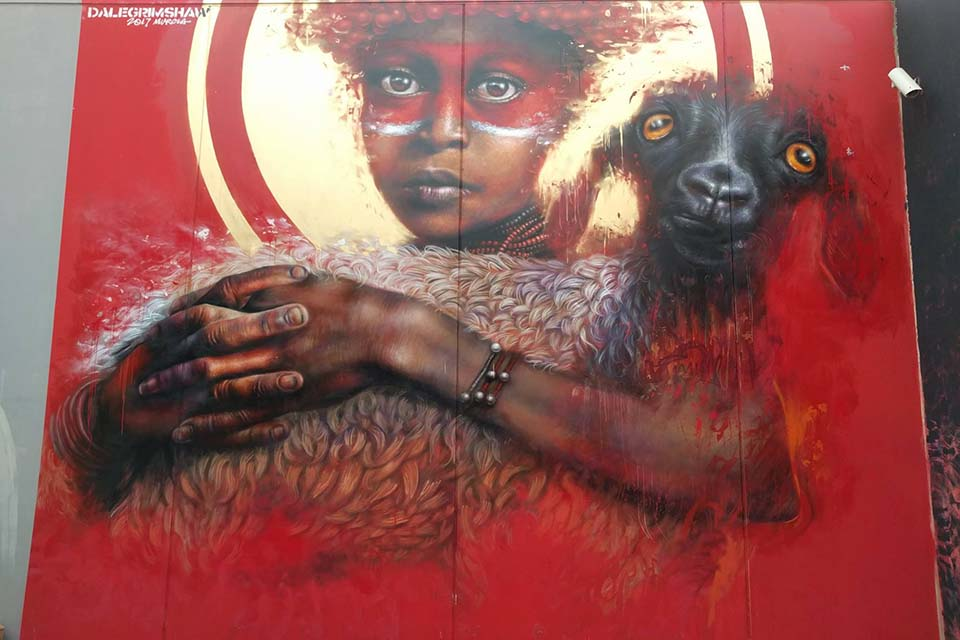 mural creado por Dale Grimshaw
