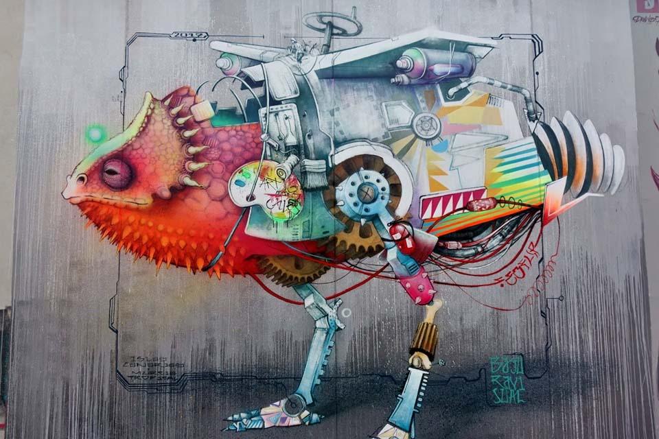 arte urbano en el Fremm de murcia