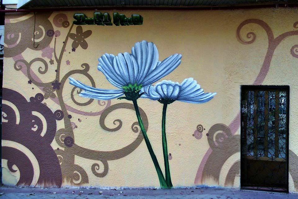 murales decorativos para fachadas en Madrid, España