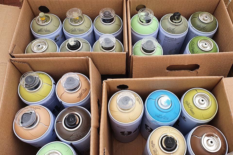 materiales usados en los talleres de graffiti