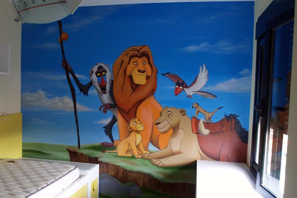 decoración con graffiti en murales infantiles, de niños y niñas