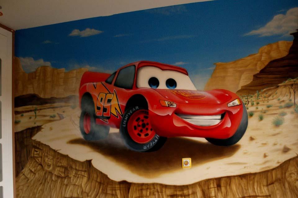 pintura decorativa para habitación infantil