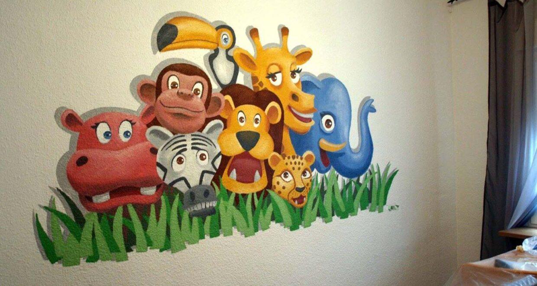 decoración graffiti murales infantiles