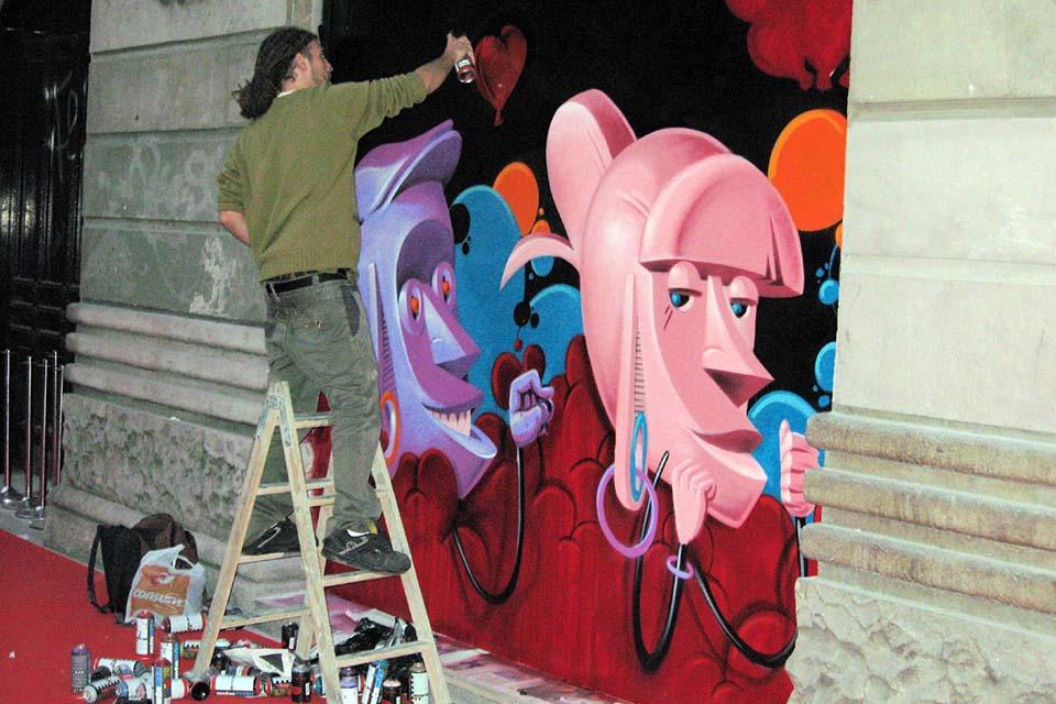 decoración por parte de los grafiteros profesionales en Madrid