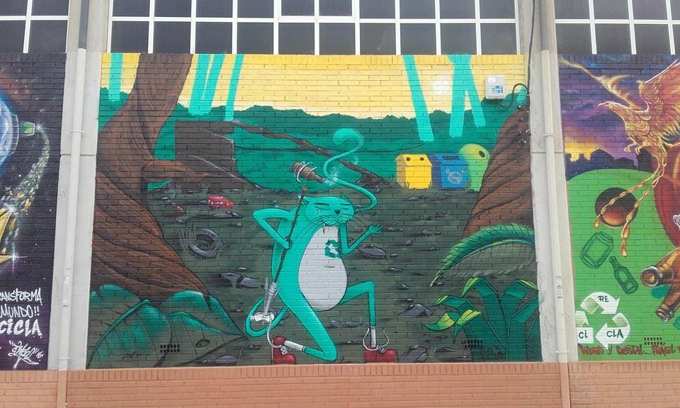 arte urbano en murcia con temática social