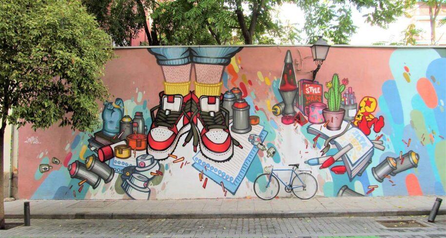 tour de graffitis en calle doctor fourquet