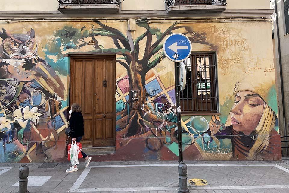 arte urbano granada por el niño de las pinturas