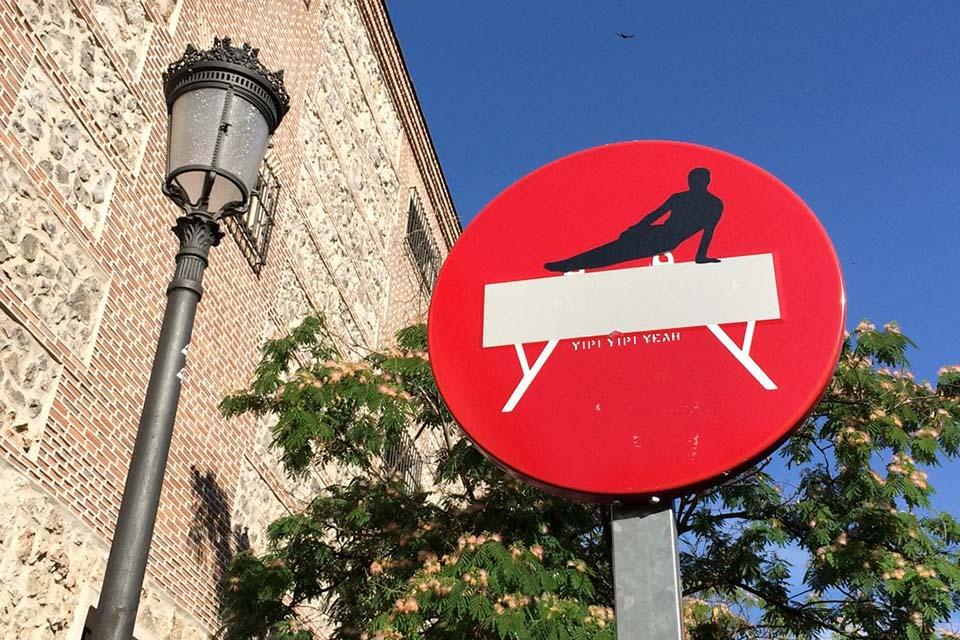 YYY en las señales de trafico de Madrid