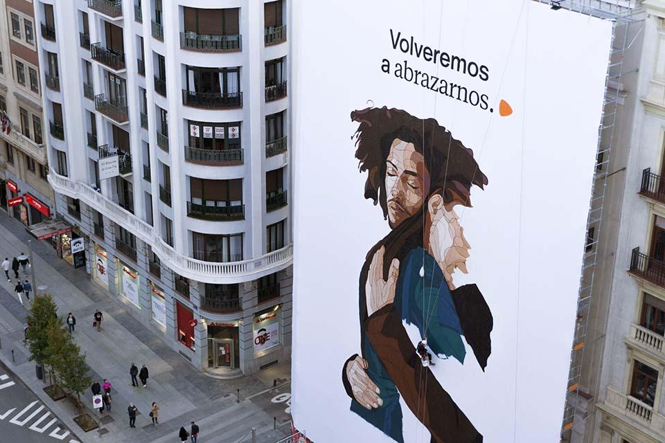 street marketing en el centro de madrid, calle gran via