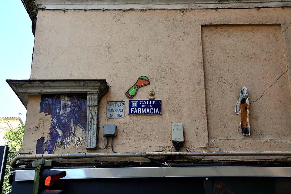 arte urbano en las fachas de madrid