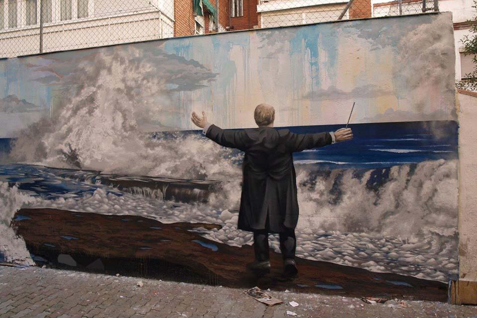 graffiti con mensaje para colegios
