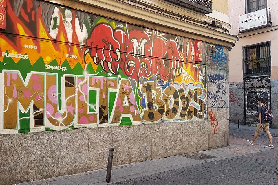 graffiti en Madrid de los multa boys