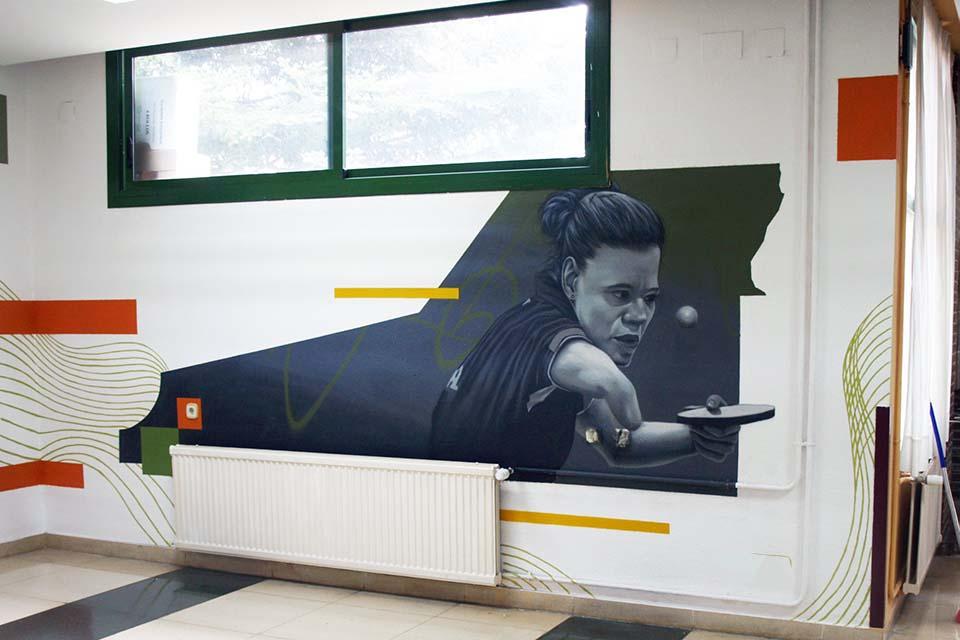 decoración mural para escuela de rehabilitación