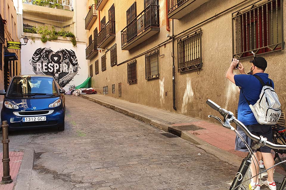 actividad alternativa con bici por madrid