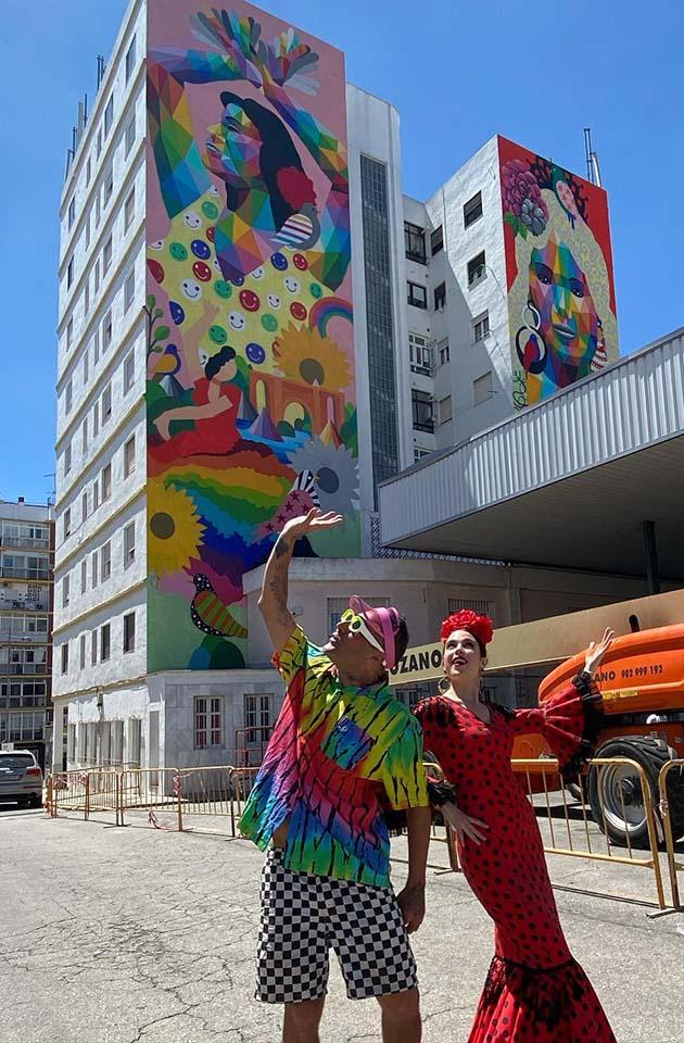 mural de okuda en la provincia de Malaga