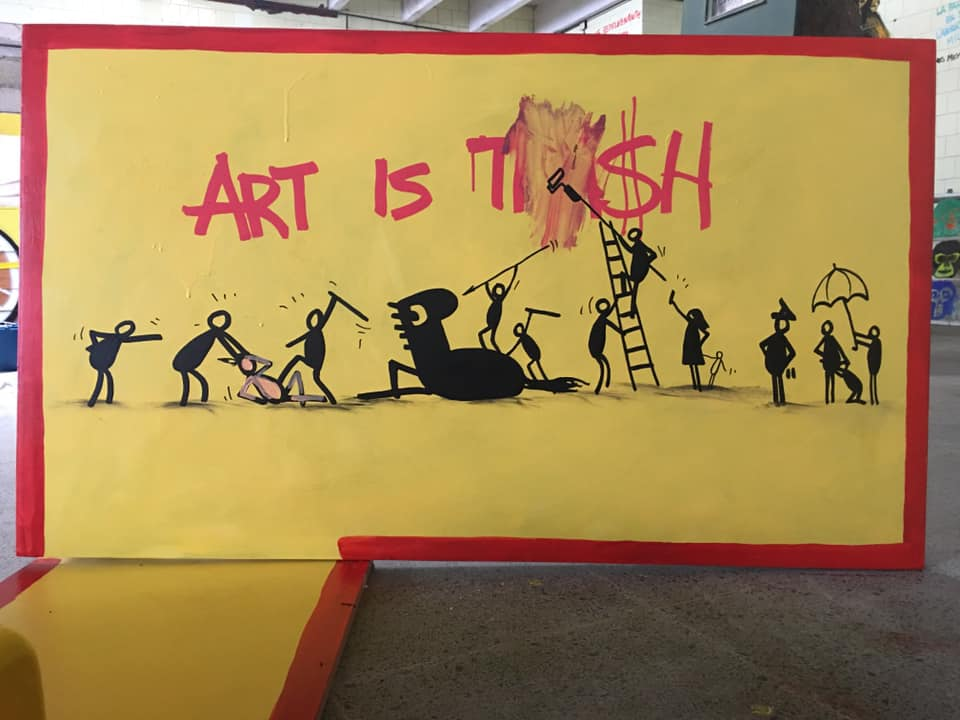 francisco de pajaro, el arte es basura
