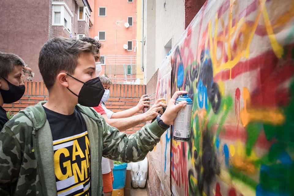 clases personalizadas de graffiti para niños