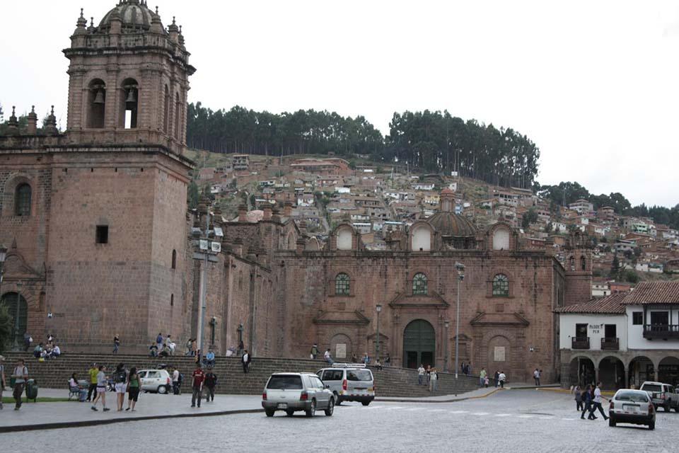 zocalo en la ciudad de Cusco, Perú