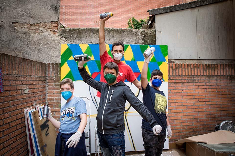 cumpleaños alternativos en madrid con grafiteros madrileños