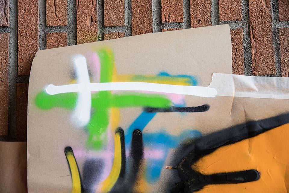 materiales utilizados para las clases de graffiti para jóvenes