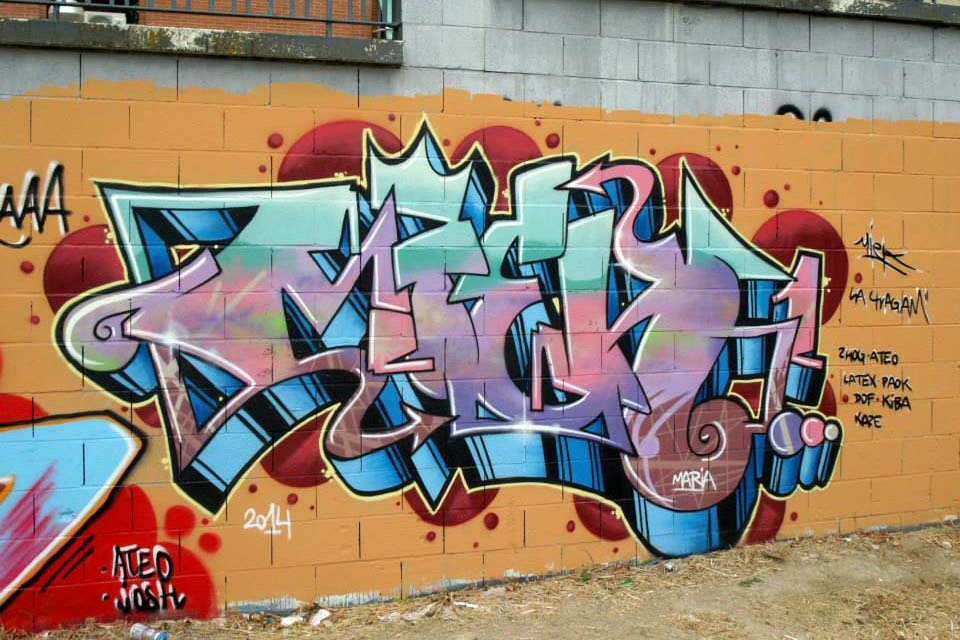 graffiti miek madrid jlobo