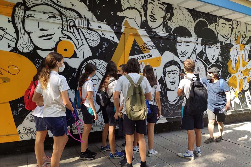 mural de graffiti en lavapies