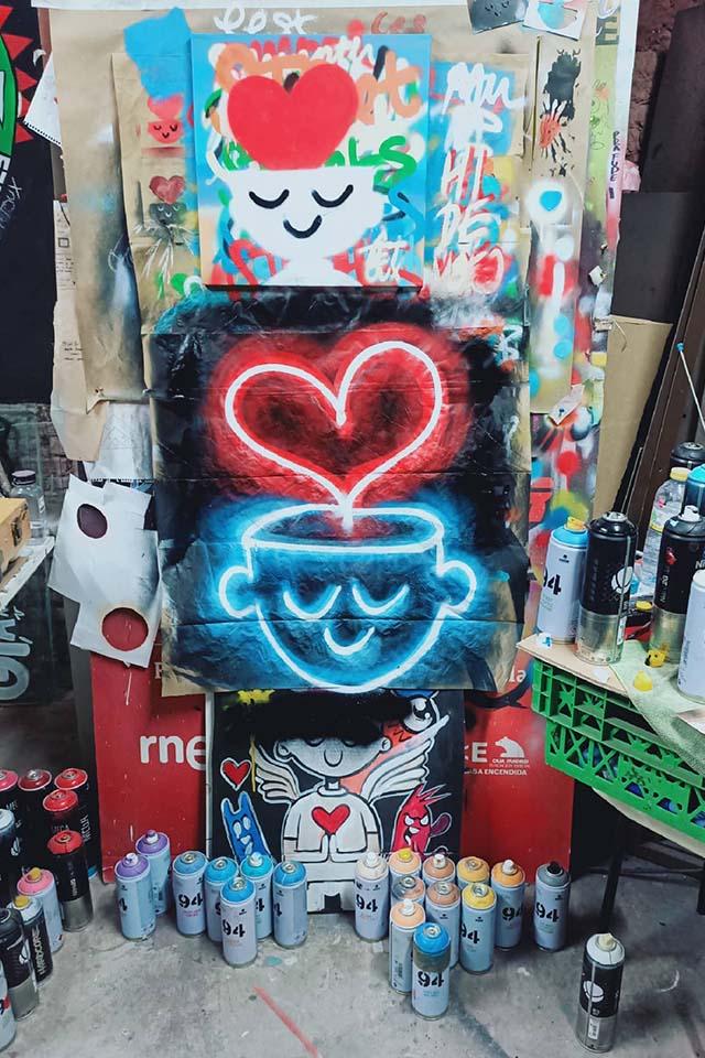 grafitero tetoux, brasileño en madrid