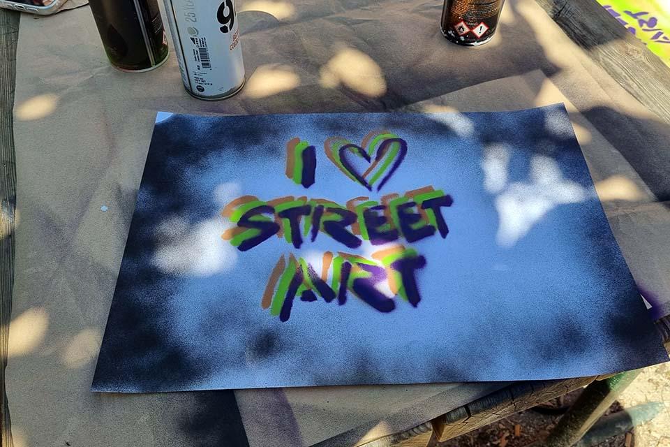 I LOVE STREET ART, decoracion graffiti