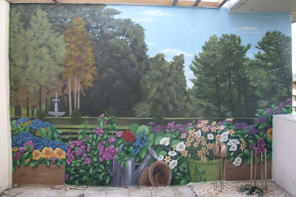 murales para terrazas a mano