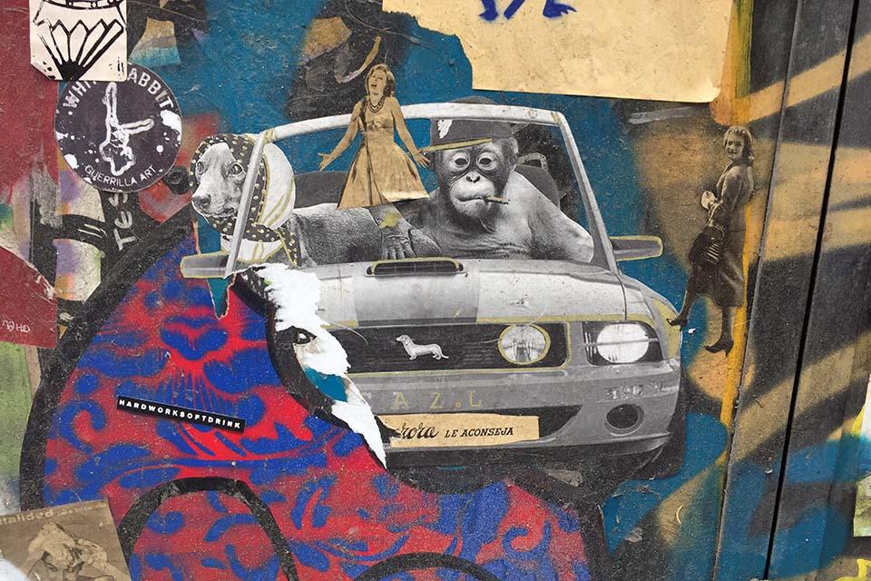 Fotografía de uno de los participantes en el street art hunt por madrid